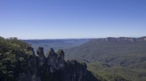 """Les fameuses Three Sisters (""""trois soeurs"""") vues depuis Echo Point, à Katoomba."""